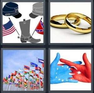 two wedding rings four pics one word 4 pics 1 word answer for civil war rings flags europe