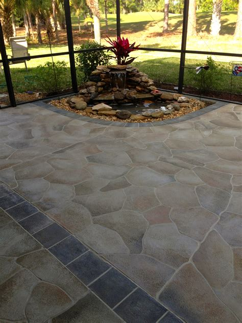 Painted Concrete Patio Ideas by Faux Paint Concrete Patio Concrete Patio Faux Slate W I P