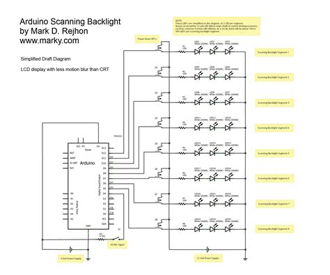 schematic diagram for scanning backlight blur busters