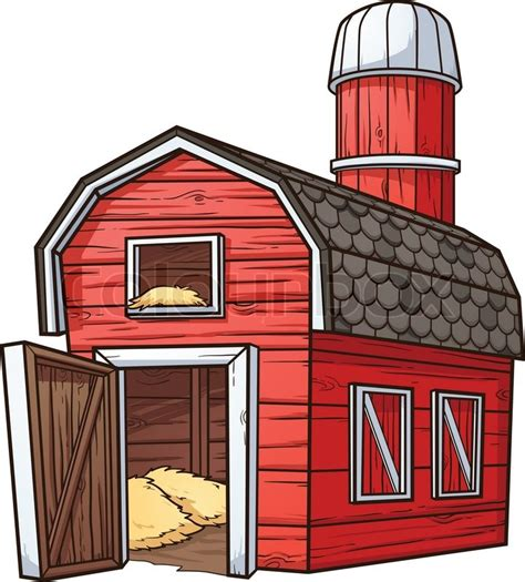 Free Barn Plans Red Cartoon Barn Vector Clip Art Illustration With Simple