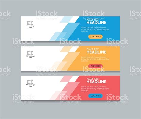abstract web banner design template background stock