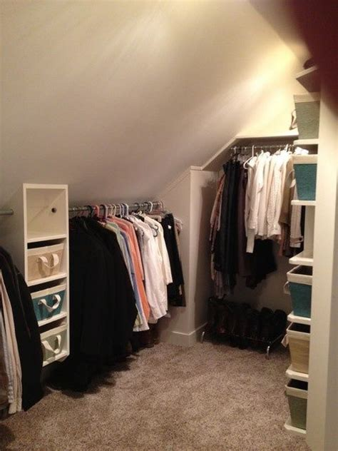 Bedroom Storage With Slanted Ceilings 1000 Ideas About Slanted Ceiling Closet On