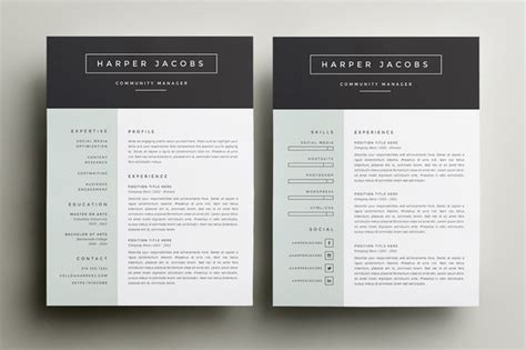 resume template design 10 great minimal design cv designs