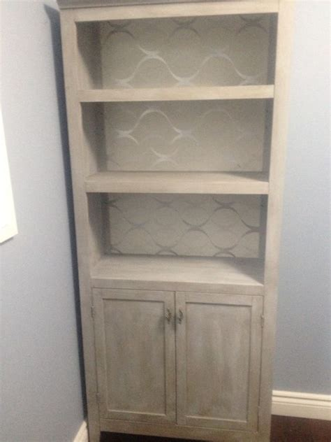 how to paint back of bookcase sloan grey chalk paint with wax