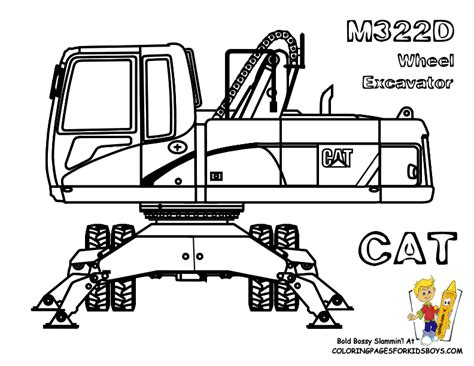 caterpillar excavator coloring pages caterpillar equipment coloring pages