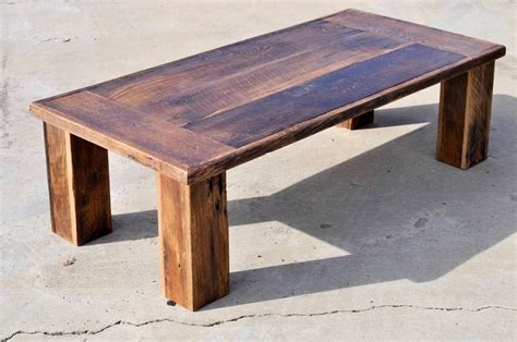 reclaimed oak barn wood coffee table the herc by dohlerdesigns