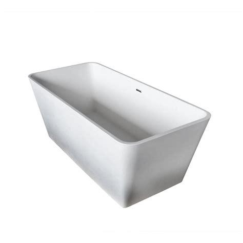 rectangle bathtub universal tubs joy stone 5 ft artificial stone center