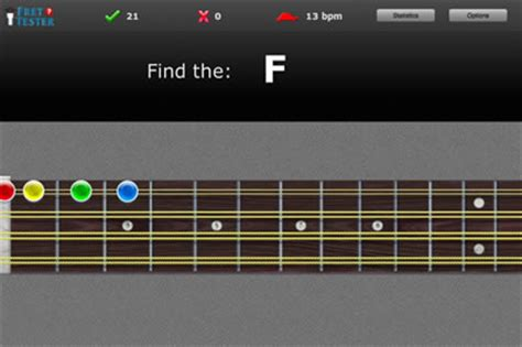 learn guitar game fret tester online fretboard trainer for guitar bass