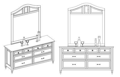 Acme Bedroom Furniture 512 custom woodworking 187 archive 187 dresser axonometric