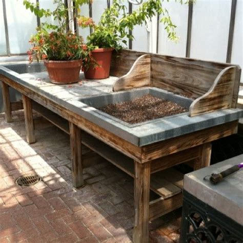 homemade potting bench 29 best images about workbench on pinterest gardens