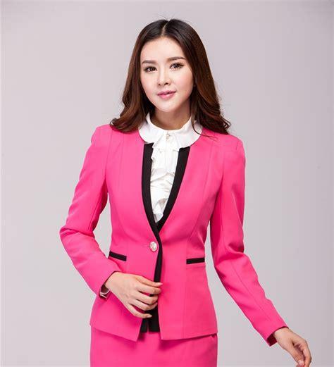 Reds Winter Blazer Blazer Korea blazer feminino blaser formal blazer winter jackets 2016 business professional clothes