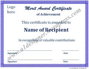 Merit Award Certificate Template by Certificate Templates Graphics And Templates