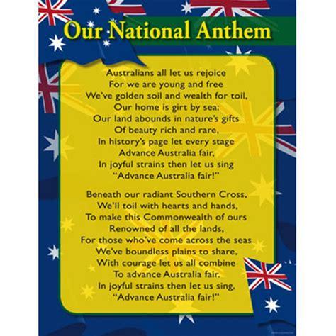 ch6009 chart australian national anthem kookaburra
