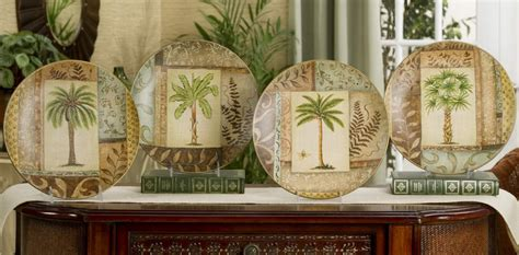 new palm tree decorative plate choice tropical home decor