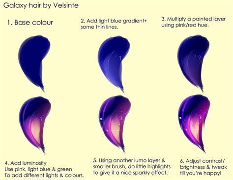 pics art galaxy tutorial tutorial galaxy hair by velsinte on deviantart