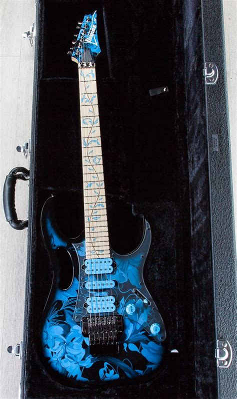 blue pattern guitar ibanez jem77p steve vai signature premium series electric