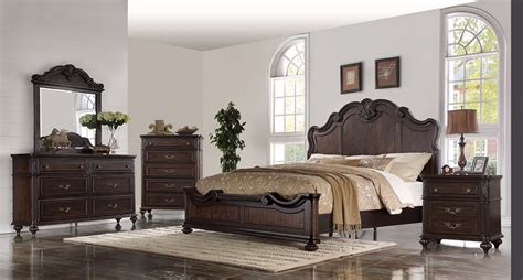 nottingham black cherry queen bedroom set  furniture place