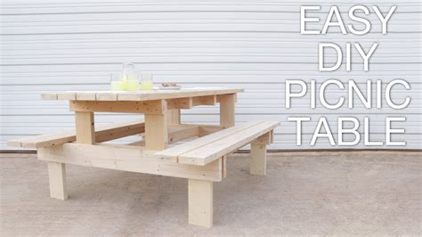 build  modern picnic table easy outdoor diy