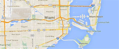 miami map miami bicycle attorney cyclist local guide