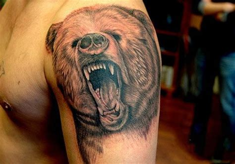 grizzly bear tattoos for men 15 best images about tattoos on black