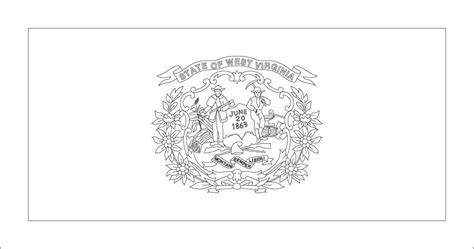 West Virginia A Unit Study Homehearts Virginia State Flag Coloring Page
