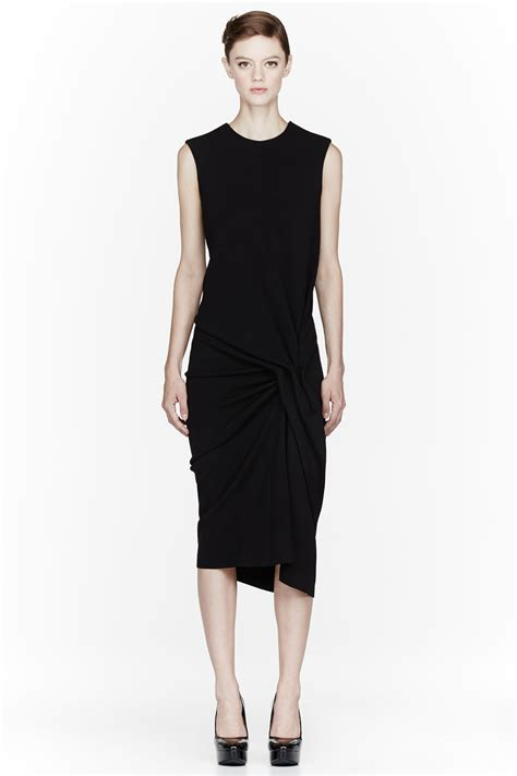 dress pattern gathered side lanvin black side gathered dress