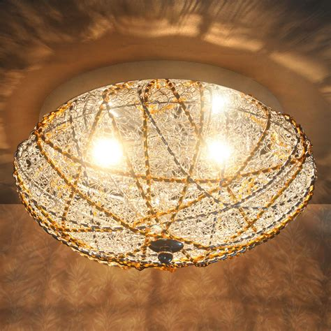 kristall leuchte pro 174 deckenleuchte deckenle le leuchte mesh
