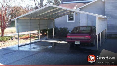 Two Car Metal Carport 2 Car Boxed Eave Carport 18 X 21 Shop Metal Carports
