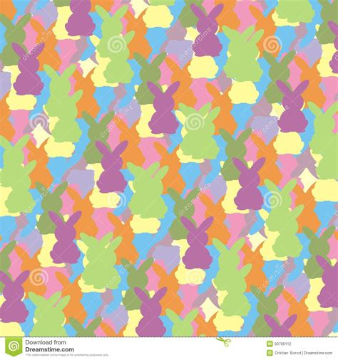 free eastern pattern background easter bunny colorful pattern stock vector illustration