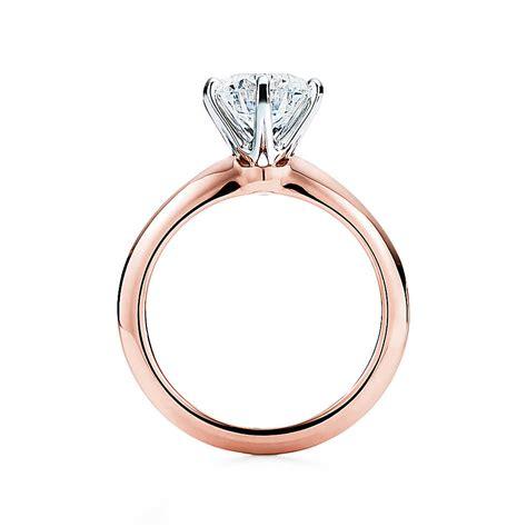 elegant rose gold engagement rings the tiffany 174 setting