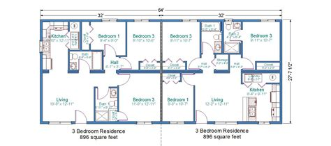 Duplex Floor Plans 2 Bedroom by Duplex Mobile Home Floor Plans Bedroom Duplex Floor