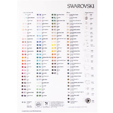 swarovski colors rhinestone color chart dreamtime creations