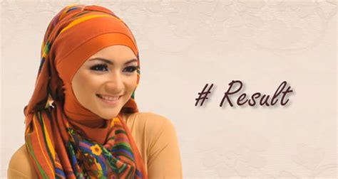 tutorial hijab citra kirana cara pakai jilbab segi empat cantik ala citra kirana