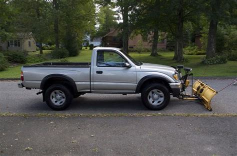 2003 Toyota Tacoma Regular Cab Find Used 2003 Toyota Tacoma 4x4 Regular Cab With Plow