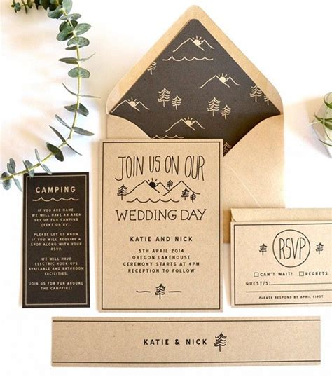 woodsy themed wedding invitations 25 best ideas about cing wedding theme on