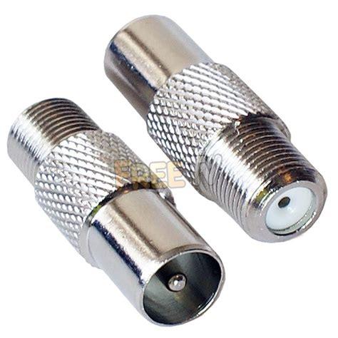 Konektor Antena Tv coaxial connector to f connector adaptor