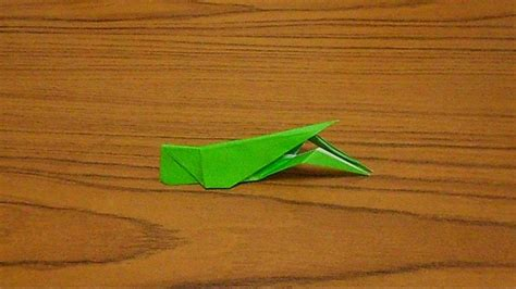 Origami Grasshopper - simple origami lesson 56 grasshopper