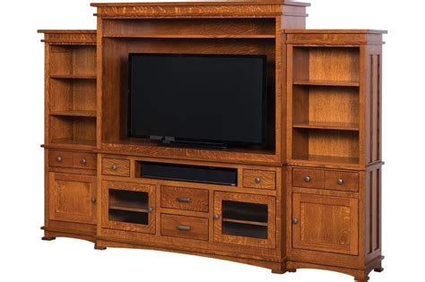 Handmade Entertainment Units - amish kenwood mission tv entertainment center solid wood