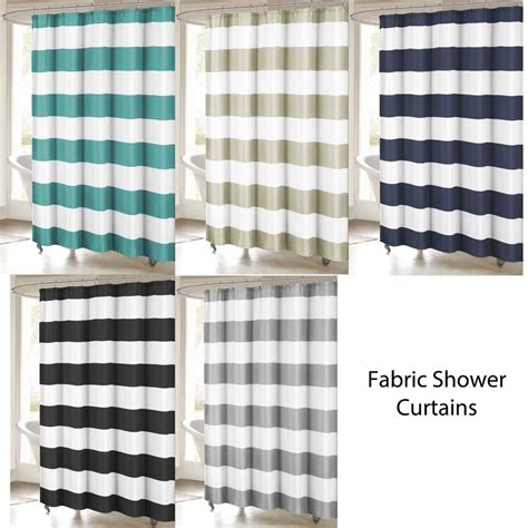 Fabric Shower Curtains by Fabric Shower Curtain Stripe Design 70x72 Ebay