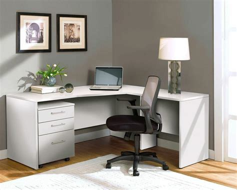 White L Shaped Office Desk Modern White L Shaped Desk With Mobile Pedestal Officedesk