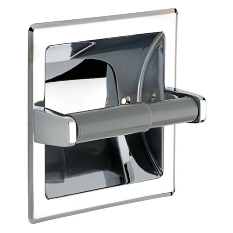 recessed toilet paper holder with shelf franklin brass recessed toilet paper holder with plastic roller in chrome 1607b the home depot