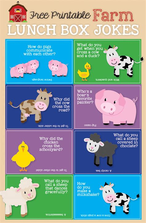 printable animal jokes lunch box jokes