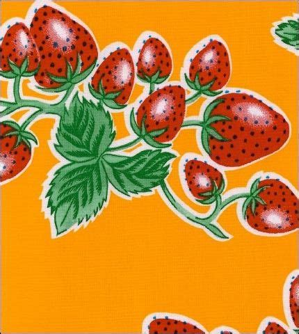 Strawberry Yellow strawberry yellow oilcloth fabric oilcloth yards and