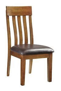 ashley faux leather dining room chair seat medium brown