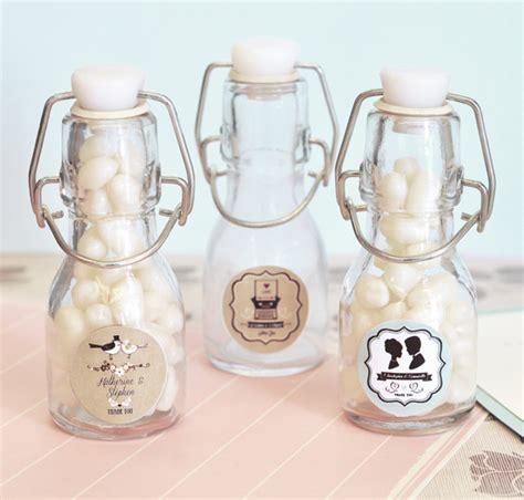 Wedding Favors Mini Bottles by Vintage Wedding Personalized Mini Glass Bottles Favor