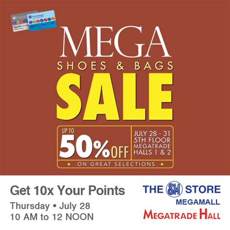 sm megamall mega shoes & bags sale july 28 to 31 2016