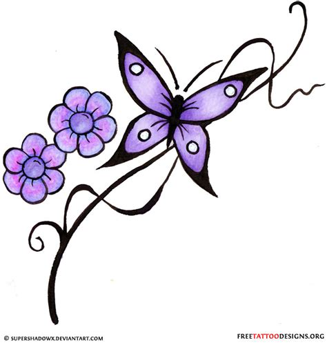 butterfly flower tattoo designs free 60 butterfly tattoos feminine and tribal butterfly