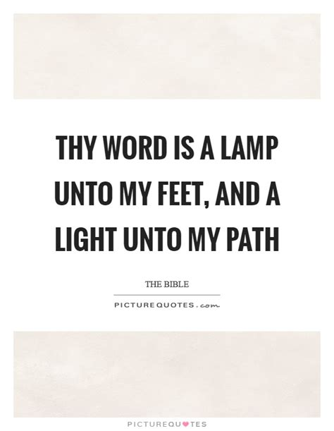 Thy Word Is A L Unto My Feet Hymn Daily Reflection