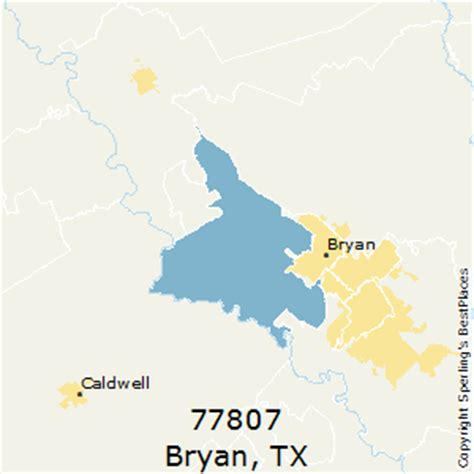 bryan texas zip code map best places to live in bryan zip 77807 texas