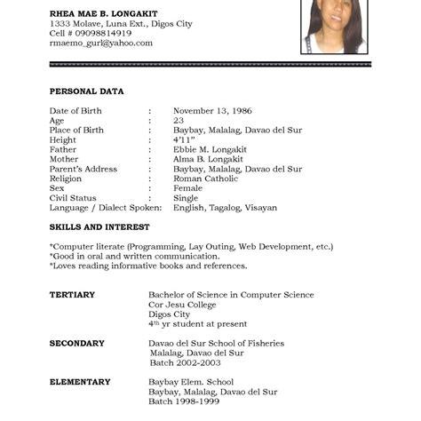 High School Cv Template Word by Cv Template Word Pdf High School Student Resume Cv Format